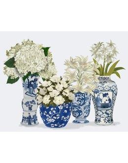 Chinoiserie Flower Quartet 2