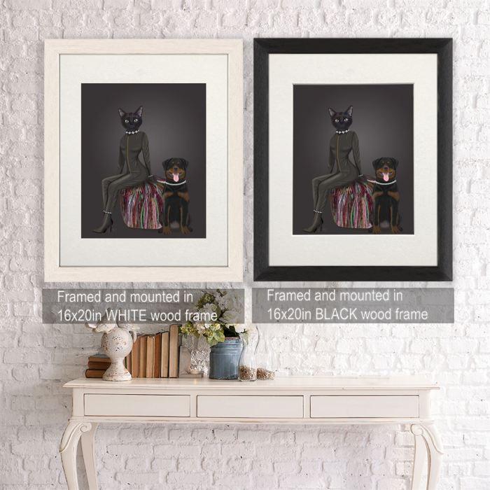 Canvas Wall Art  Framed Black -