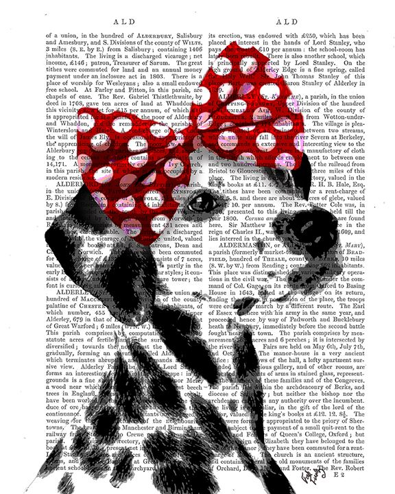 Dalmatian With Red Bow
