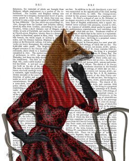 Fox with Red Scarf