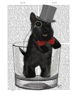 Scottish Terrier in Whisky Tumbler