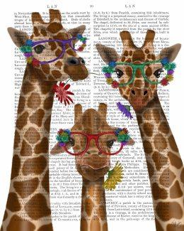 Giraffe and Flower Glasses
