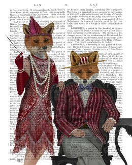 Fox Couple 1920s