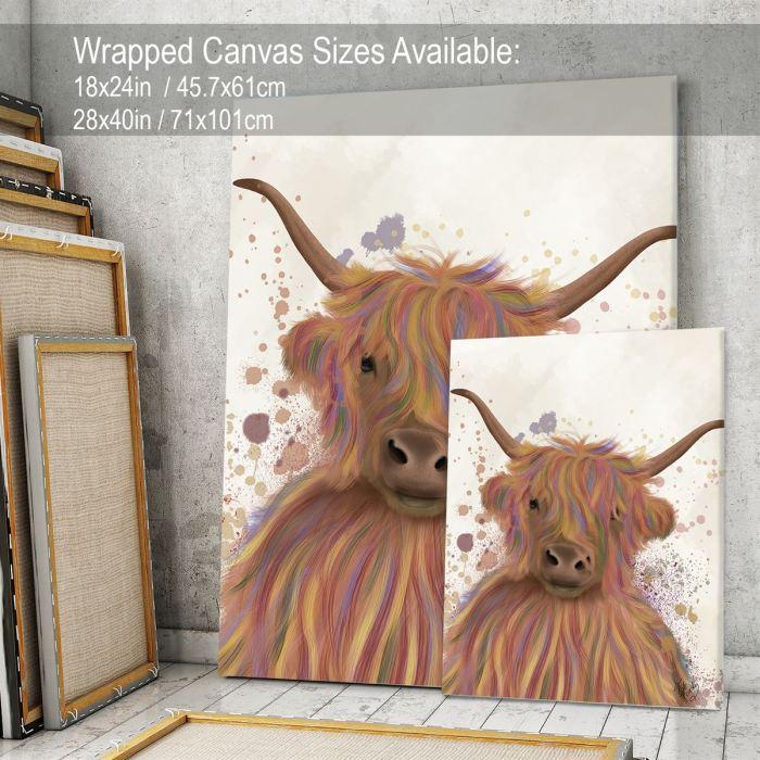 Animal Art Print  Canvas 18x24inch -