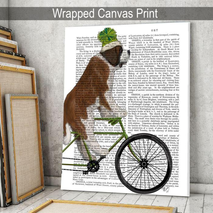 St Bernard on Bicycle