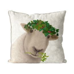 Sheep and Holly Crown