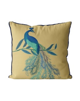 Peacock with Doodle Tail on Gold
