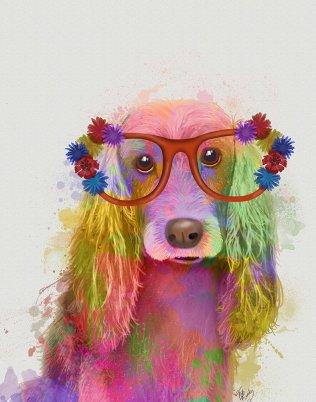 Cocker Spaniel Rainbow Splash