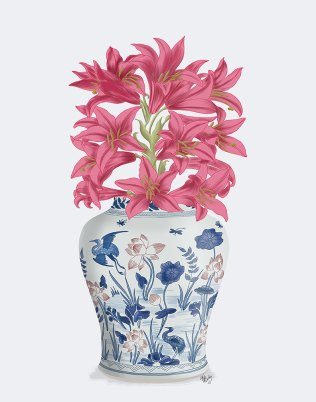 Chinoiserie Lilies Pink