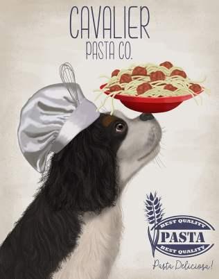 Cavalier Spaniel Black White Pasta Cream