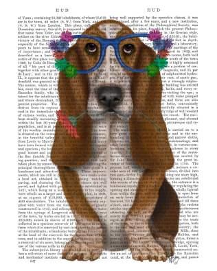 Basset Hound Flower Glasses