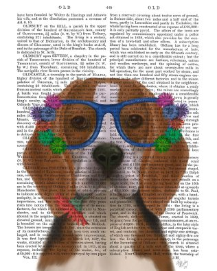 Beagle and Flower Glasses