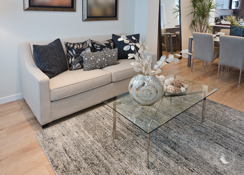 glass coffee table decorating ideas for