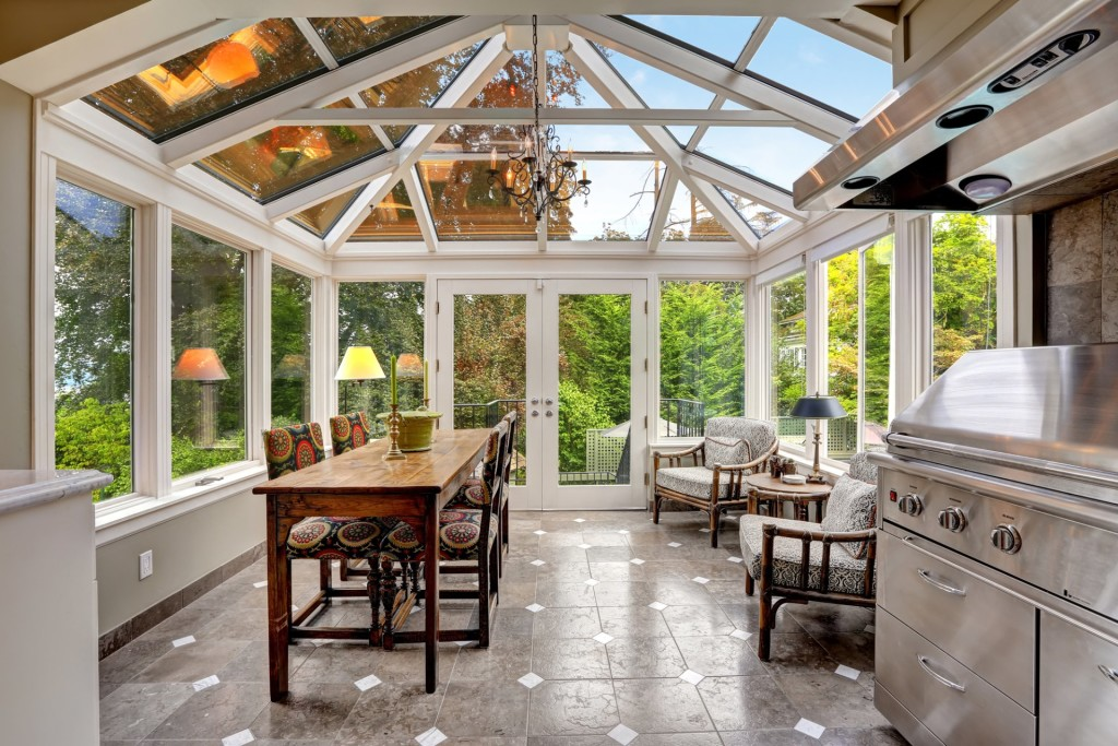 using glass enclosed patio