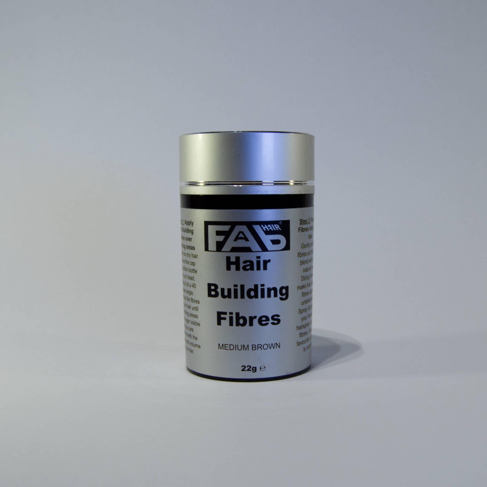 Medium Brown variety of FAB Hair Building Fibres
