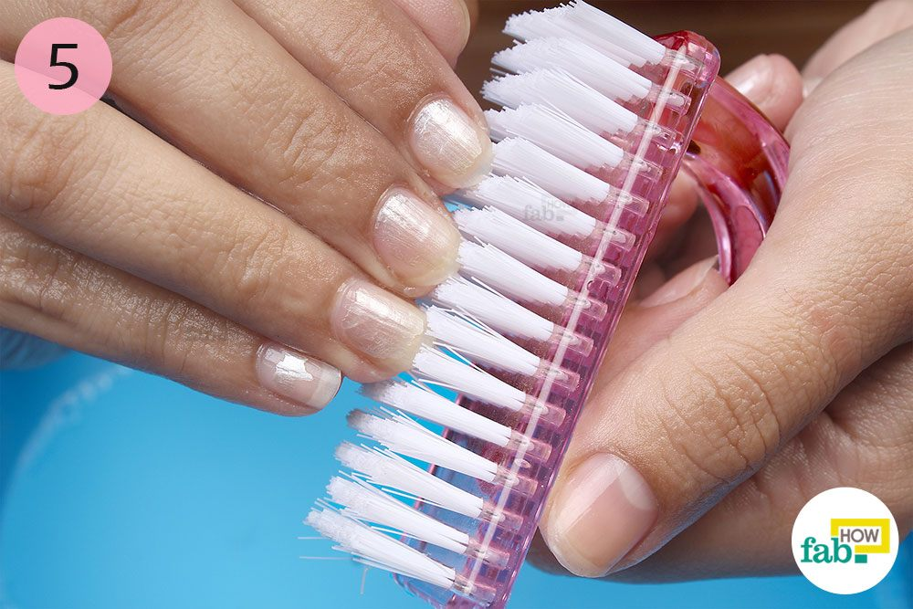 Clean Underneath Your Nails With A Nail Brush