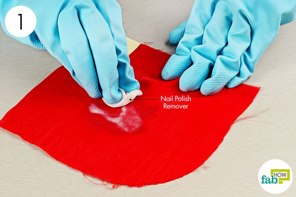 Dab The Nail Polish Stain With Non Acetone Remover
