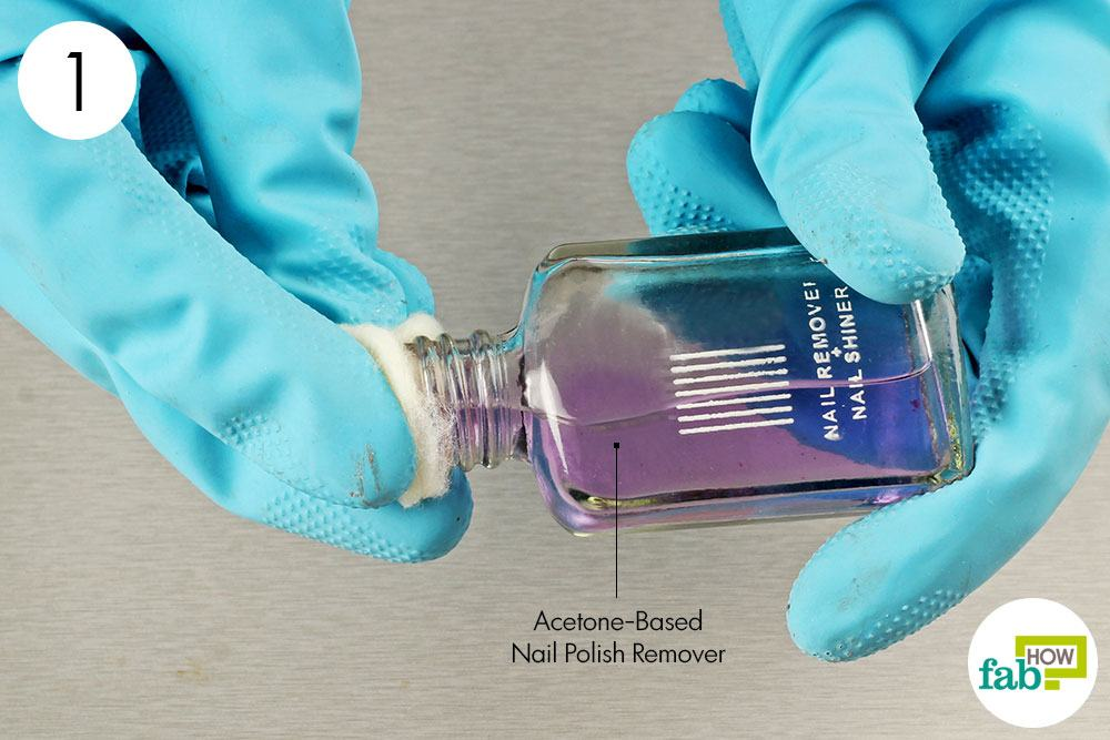 Soak A Cotton Ball With Acetone Based Nail Polish Remover