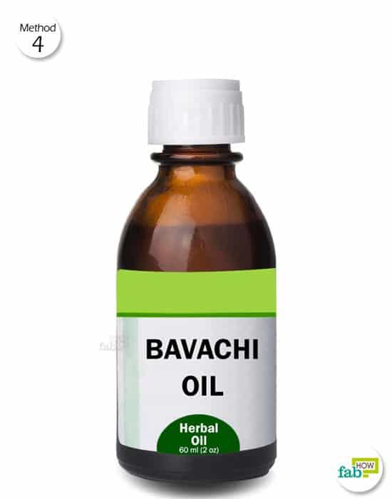 rub bavachi oil to treat vitiligo