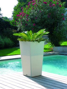 grand pot pour plante cache pot macetero grande hauteur acier cuve galvanisee resine tressee