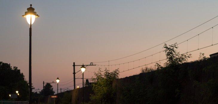 Zonsondergang bij station Bilthoven, door Fabian Lucas Luijckx