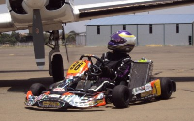 Fabienne lights up the Drag Strip at Nitro Raceway in head to head kart race