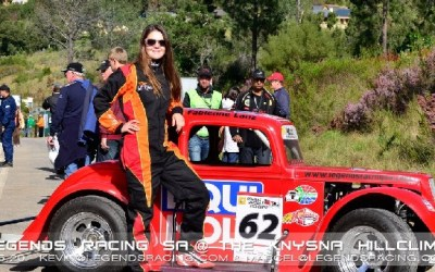 Fabienne is Queen of Knysna Hill Climb with Legends Racing South Africa