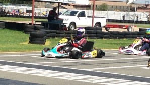 Pole position and fastest lap in Vereeniging X30 125cc shifter class