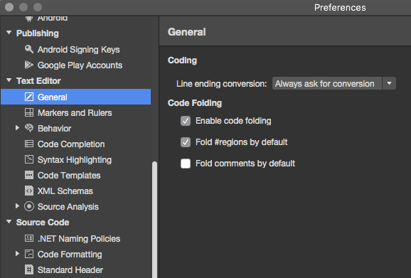 Collapsing Code (Folding) in Xamarin Studio | Fabio Cozzolino\'s blog ...