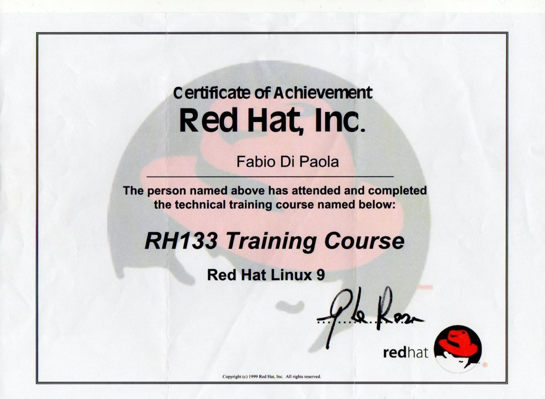 RH133 training course Linux Red Hat