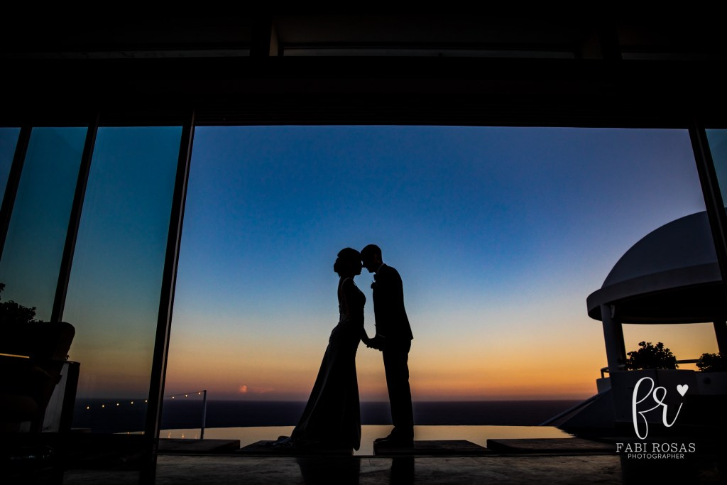 Villa Clara Vista wedding at sunset