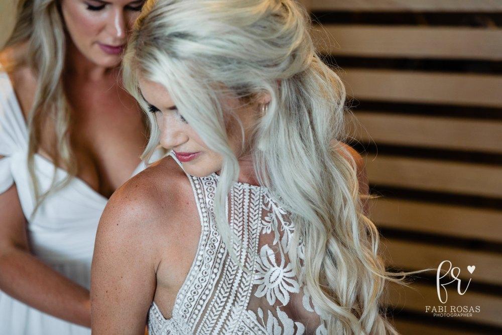 Breathless Bride getting ready