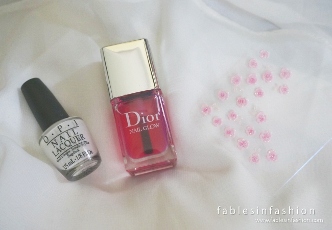 Valentines Pink Rose Nail Art