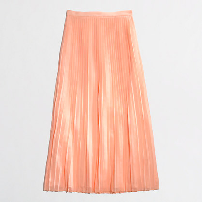 factory pleated maxi skirt
