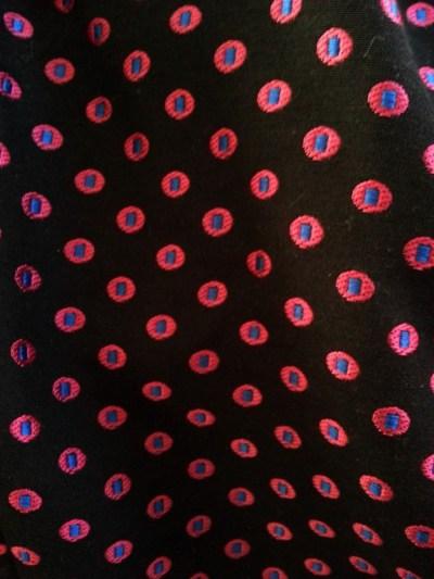 factory jacquard pants close up