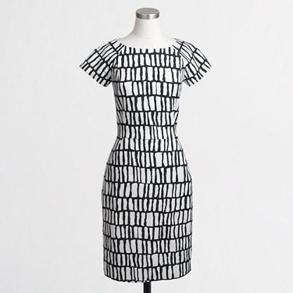 b612deb096d J.Crew Factory Short-Sleeve Basketweave Dress   Crepe Short-Sleeve Dress