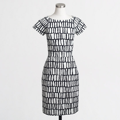 factory ss basketweave dress