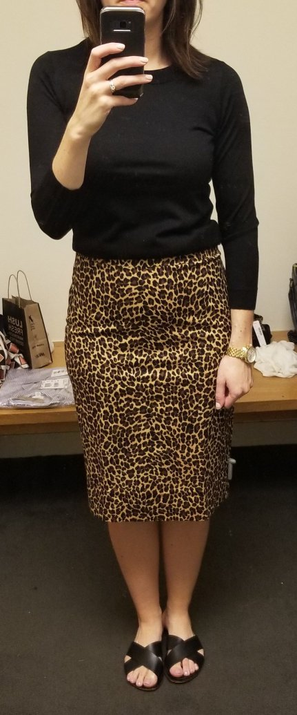 d28b93928bc I m wearing a size 8 which is my pant pencil skirt size and it was perfect.  I love the slim silhouette of this skirt and the leopard print this season  is ...
