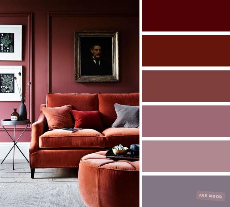 living room color schemes mauve