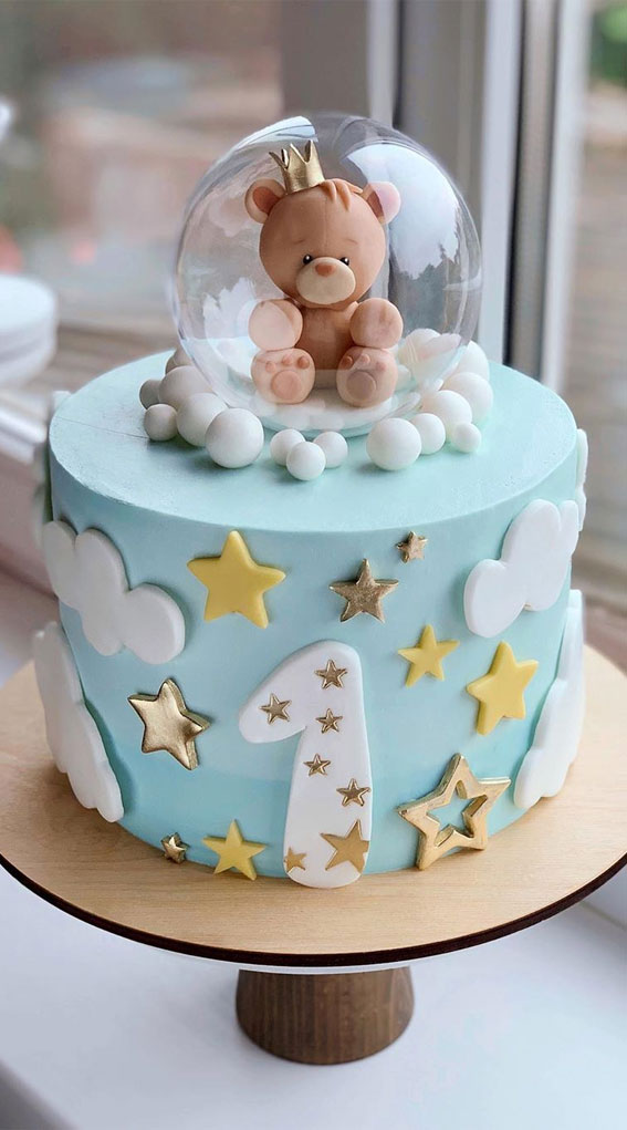 The Prettiest Cake Designs To Swoon Over Blue 1st Birthday