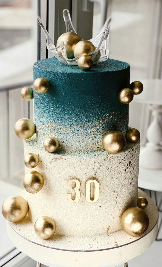54 Jaw Droppingly Beautiful Birthday Cake Ombe Teal 30th Birthday Cake