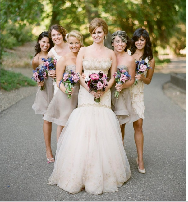 neutral bridesmaid dresses,neutral bridesmaids , neutral bridal parties