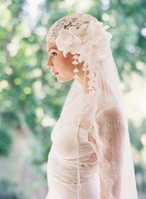 wedding veil,bohemian juliet cap wedding veil