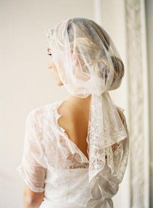 swiss dot bridal veil