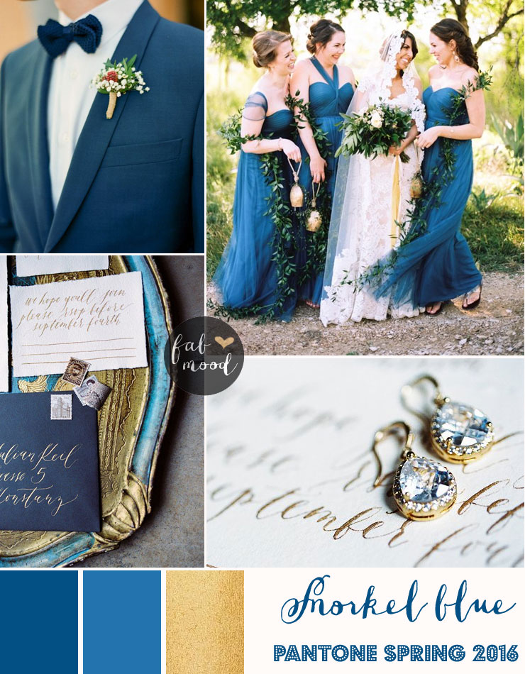Snorkel Blue Wedding Theme Pantone Spring 2016