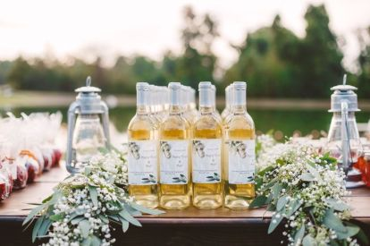 wedding reception in The Peach Orchard | Photography : marymargaretsmith.com | https://www.fabmood.com/a-cozy-fall-wedding-in-the-peach-orchard #peach #fallwedding