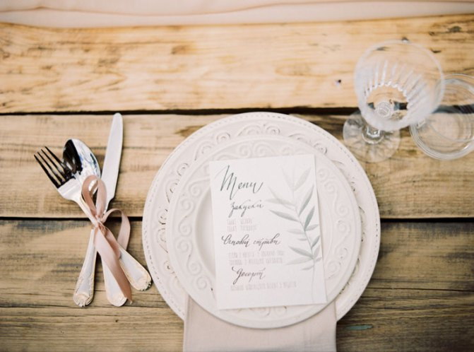 wedding menu | Cozy and Intimate Rustic Wedding | Photography : yuriyatel.com | read more: fabmood.com