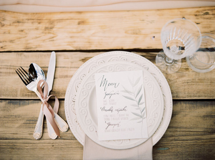 wedding menu | Cozy and Intimate Rustic Wedding | Photography : yuriyatel.com | read more: fabmood.com