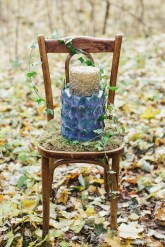 Wedding cake - Woodland wedding table setting ideas - Enchanted Forest Fairytale Wedding in Shades of Autumn | fabmood.com