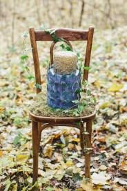 Wedding cake - Woodland wedding table setting ideas - Enchanted Forest Fairytale Wedding in Shades of Autumn   fabmood.com